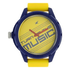 Fastrack Yellow Dial Analog Watch for Unisex