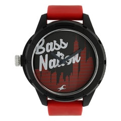 Fastrack Red Dial Analog Watch for Unisex