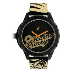 Fastrack Tees EDM Collection Black Dial Analog Unisex Watch