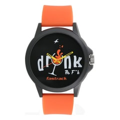 Fastrack Tees As Fuck Black Dial Analog Unisex Watch