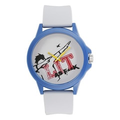 Fastrack Tees Valentines White Dial Analog Unisex Watch