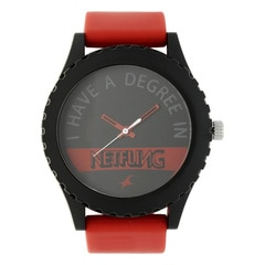 Fastrack Tees Black Dial Analog Watch for Unisex