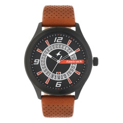 Fastrack Loopholes Black Dial Analog Watch for Men