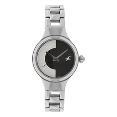 Fastrack Spiked White Black Dial Analog Watch for Women