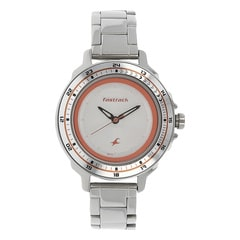 Fastrack Watch Silver White Dial Analog For Women