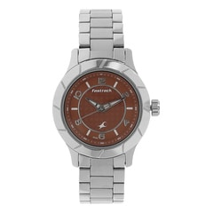 Fastrack Orange Dial Analog Watch for Women-6139SM02