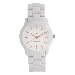 Fastrack Trendies White Dial Analog Watch for Women
