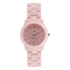Fastrack Trendies Pink Dial Analog Watch for Women