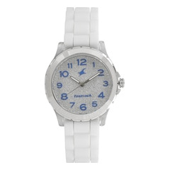 Fastrack Trendies Silver Dial Analog Watch for Women