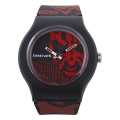 Red Dial Plastic Strap Watch
