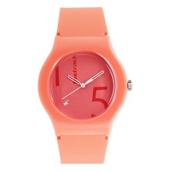 The Minimalists from Fastrack Tees - Pink Dial Analog Watch