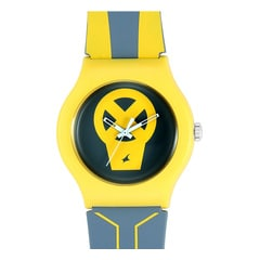 Deadpool by Fastrack Grey & Yellow Dial Analog Unisex Watch