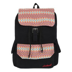 Fastrack Black Canvas Laptop Backpack for Women