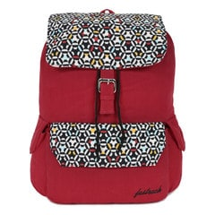 Fastrack Red Canvas Laptop Backpack for Women