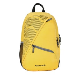 Fastrack Yellow Polyester Laptop Backpack for Men