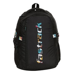 Fastrack Back to Campus Black Polyester Backpack for Men