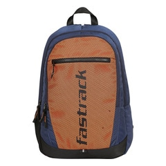 Fastrack Back to Campus Orange Polyester Backpack for Men