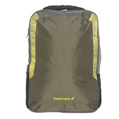 Fastrack Green Nylon Laptop Backpack For Men-AC013NGR01AB
