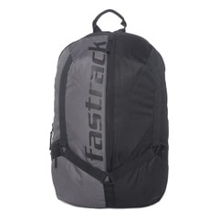 Fastrack Black Backpack For Men-AC029NBK01