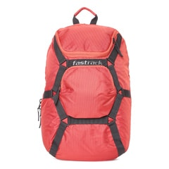 Fastrack Orange Backpack For Men-AC030NOR01