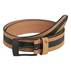 Fastrack Beige Leather Belts for Men