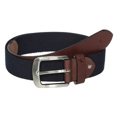 Fastrack Webbed Blue Belt with Tongue Buckle for Men