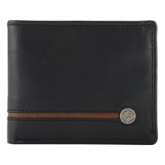 Fastrack Leather Black Wallets for Men-C0368LBK02