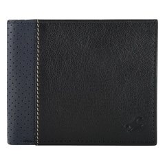 Fastrack Black Leather Wallet for Men-C0378LBK01