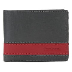 Fastrack Grey Leather Wallet For Men-C0381LGY01