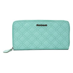 Fastrack Blue Quilted Leather Wallet for Women
