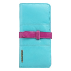 Fastrack Blue Leather Wallet for Women with Adjustable Clasp Button