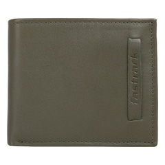 Fastrack Khaki Green Leather Wallet for Men