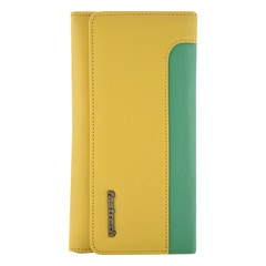 Fastrack Yellow Leather Wallet for Women with Snap Button Closure