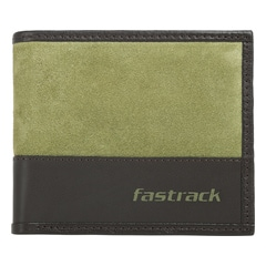 Fastrack Green Leather Wallets for Men