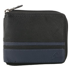 Fastrack Black Leather Wallet for Men