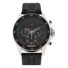 Fastrack Leather Watch For Men-ND3072SL06