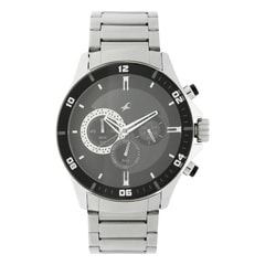 Fastrack White And Black Dial Watch For Men-ND3072SM02
