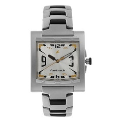 Fastrack Silver Dial Analog Watch For Men-NF1229SM04