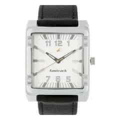 Fastrack Silver Dial Analog Watch For Men-NE3040SL01