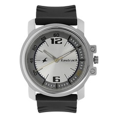 Fastrack Silver White Dial Analog Watch for Men
