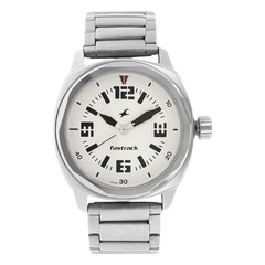 Fastrack Upgrades White Dial Analog Watch for Men