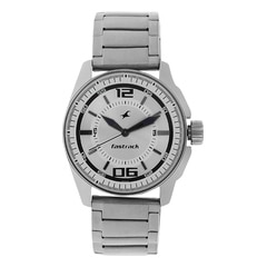 Fastrack Silver-White Dial Analog Watch for Men