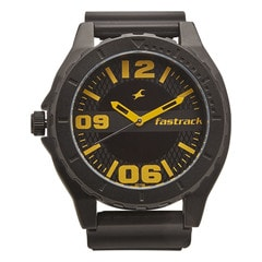 Fastrack Polyurethane Strap Watch for Men
