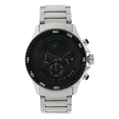 Fastrack Big Time Black Dial Chronograph Watch for Men
