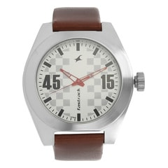 Fastrack Checkmate Silver Dial Analog Watch for Men