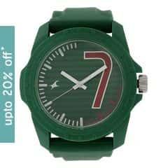 Fastrack Unisex Green Dial Analog WatchUnisex-38018PP05J