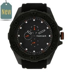 Fastrack Watch Black Dial Multifunction For Men