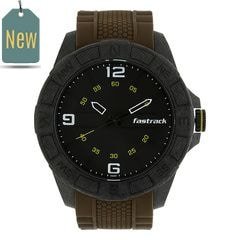 Fastrack Watch Black Dial Analog For Men