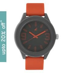 Fastrack Tees Grey Dial Unisex Analog Watch