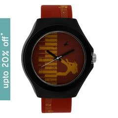 Fastrack Red Dial Unisex Analog Watch